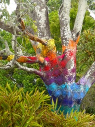 Yarn-bombing in Mullumbimby