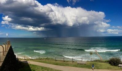 Rain cloud off Ballina