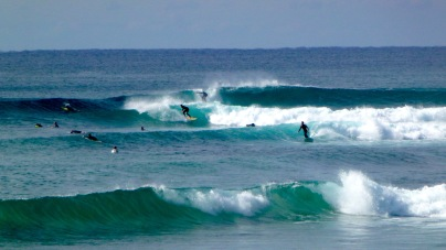 Surfing at Lennox Point